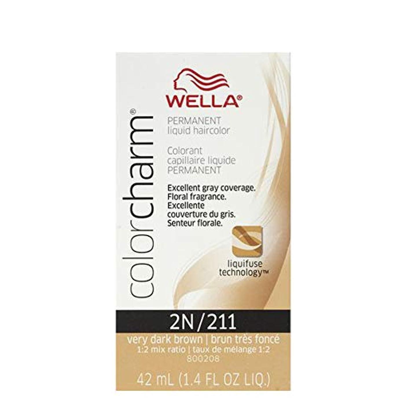 ひねくれたクリック認知Wella 非常にダークブラウン色のチャーム液体パーマネントヘアカラー