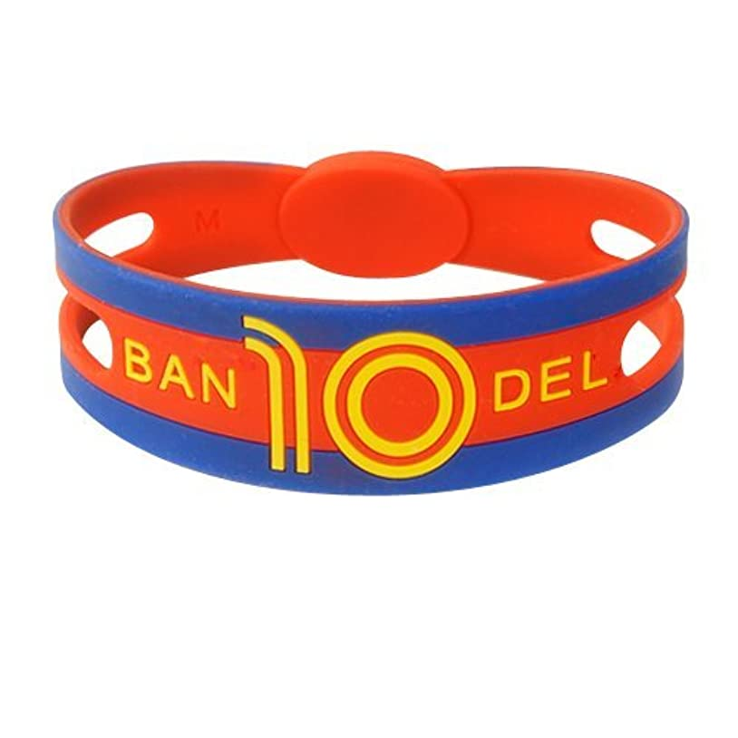 管理する端省略バンデル(BANDEL)ブレスレット ワールドフットボール スペイン[ブルー×レッド×イエロー]LLサイズ(内径20.5cm?縦幅26mm)