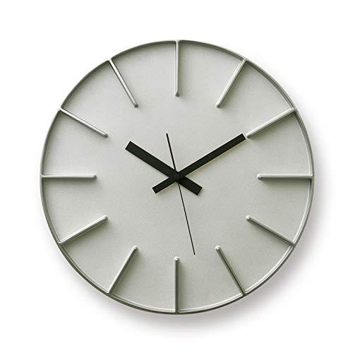 Lemnos レムノス edge clock エッジクロック Lサイズ カラー:アルミニウム AZ-0115 デザイン:AZUMI 置時計 壁掛け時計 掛時計 時計 ウォールクロック
