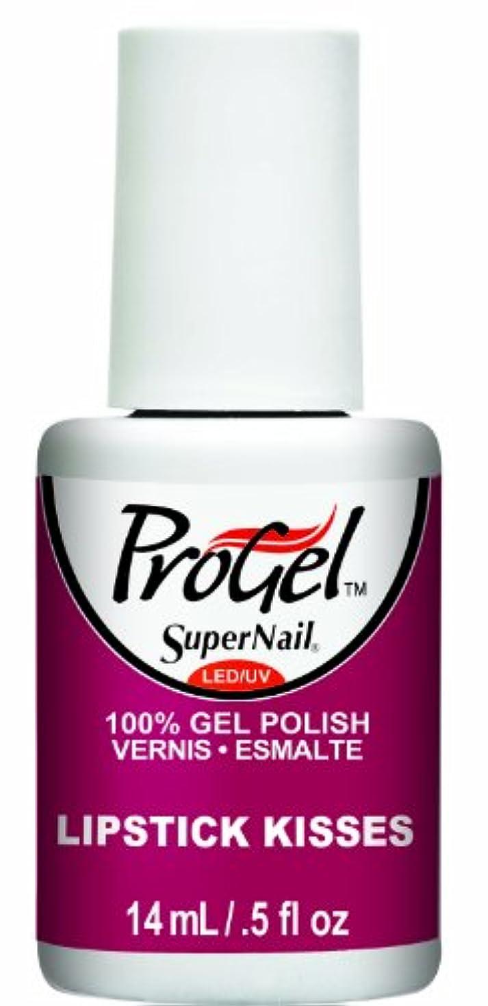 主観的ピグマリオン鉄SuperNail ProGel Gel Polish - Lipstick Kisses - 0.5oz / 14ml