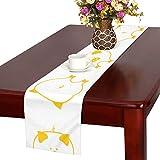 GGSXD テーブルランナー 小柄 豚 クロス 食卓カバー 麻綿製 欧米 おしゃれ 16 Inch X 72 Inch (40cm X 182cm) キッチン ダイニング ホーム デコレーション モダン リビング 洗える