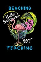 "beaching not teaching hello summer: vintage tropical flamingo Funny Lined Notebook / Diary / Journal To Write In 6""x9"""