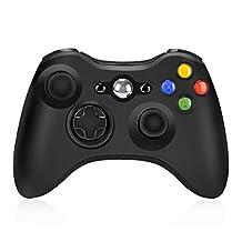 Xbox 360 Wireless Controller, Y Team 2.4GHz Xbox 360 Gamepad Joystick Wireless Controller for Xbox 360 Console and PC Windows 7/8/10 (Black)
