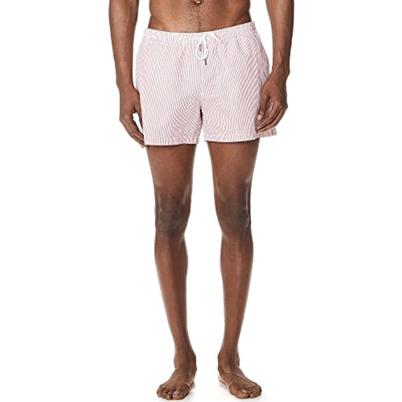 (クラブ モナコ) Club Monaco メンズ 水着?ビーチウェア 海パン Arlen Seersucker Swim Shorts [並行輸入品]
