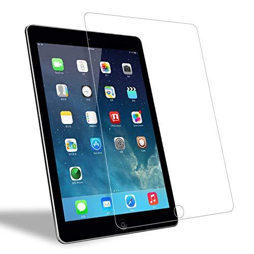 iPad9.7ガラスフィルム 強化ガラス 液晶保護フィルム ブルーライト 簡単貼付 反射低減 高透過率 透明 気泡ゼロ クラッチ防止 超薄0.3mm 2.5D 硬度9H 保護フィルム iPad 9.7/iPad Air2/iPad Pro 9.7対応 [FUUPNN]