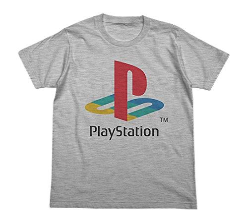 """プレイステーション 初代""""PlayStation"""" Tシャツ ヘザーグレー XLサイズの詳細を見る"""