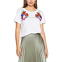 French Connection Women's Palm Parrot Embellished Tee