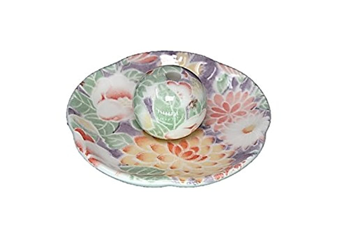 宴会寛大なにはまって華友禅 花形香皿 お香立て 日本製 製造 直売品