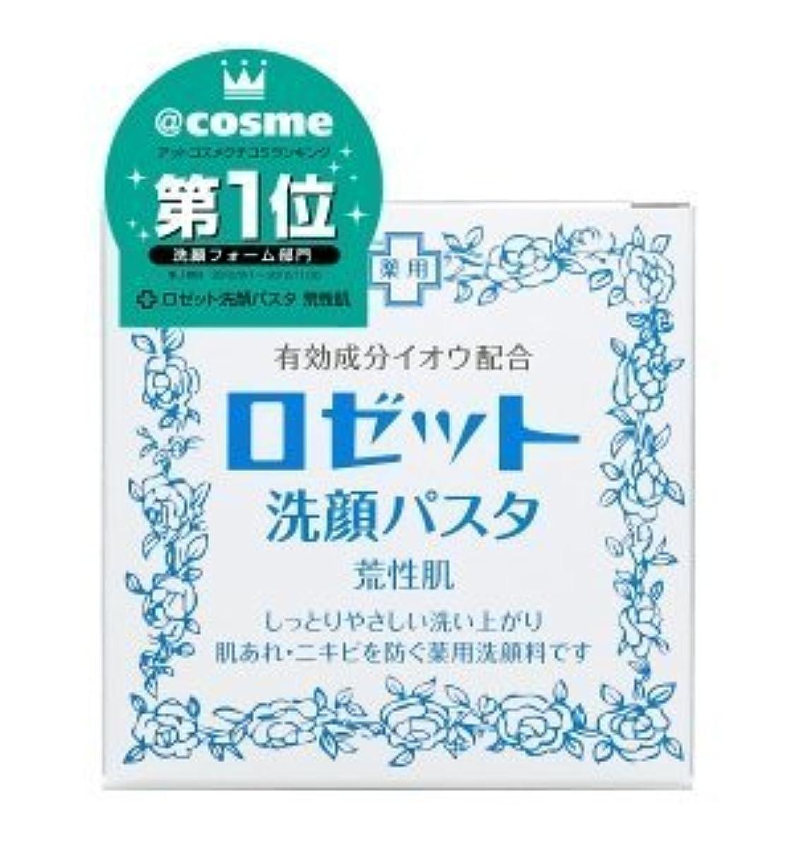 量知り合い野心ロゼット 洗顔パスタ 荒性肌 90g (医薬部外品) × 6個セット