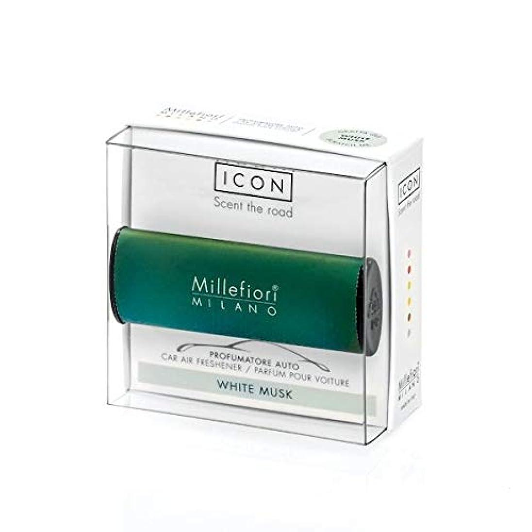 無秩序どうやらサラミミッレフィオーリ(Millefiori) カーエアフレッシュナー ICON CLASSIC GREEN - ホワイトムスク(WHITE MUSK) [並行輸入品]