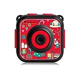 DROGRACE キッズカメラ IP68防水30Mまで 1.77インチ 1080P録画 日本語説明書 レッド