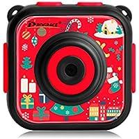 DROGRACE キッズカメラ IP68防水30Mまで 1.77インチ 1080P録画 日本語説明書 クリスマス柄