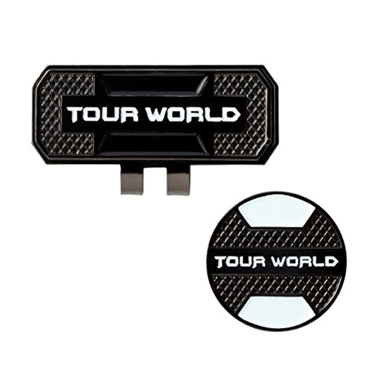 繁殖四分円ブラウズ本間ゴルフ グリーンマーカー TOUR WORLD クリップマーカー ブラック OG-1701 素材:マーカー(鉄)、クリップ(鉄)
