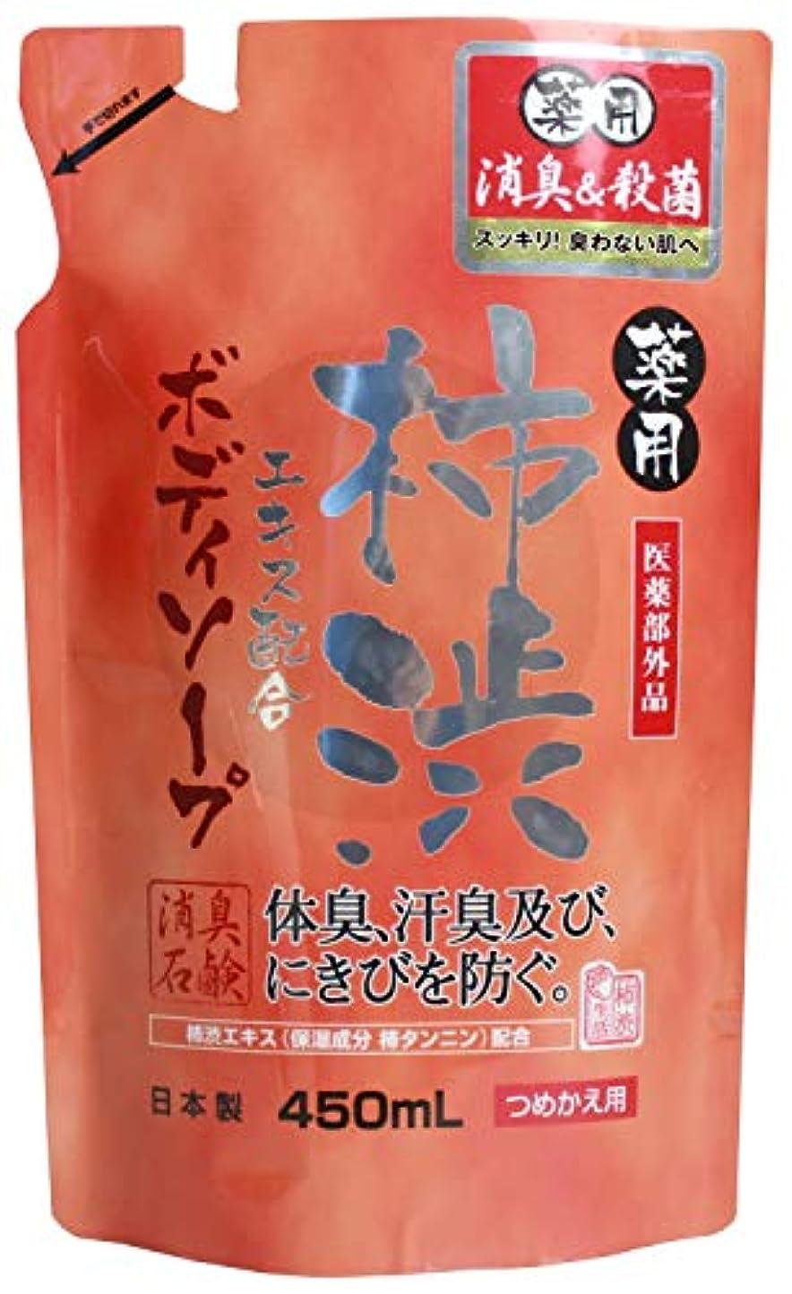 こんにちは工業化する炭素薬用柿渋 ボディソープ (つめかえ用) 450mL 【医薬部外品】