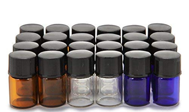 量吐くひばりVivaplex, 24, Assorted Colors, 2 ml (5/8 Dram) Glass Bottles, with Orifice Reducers and Black Caps [並行輸入品]