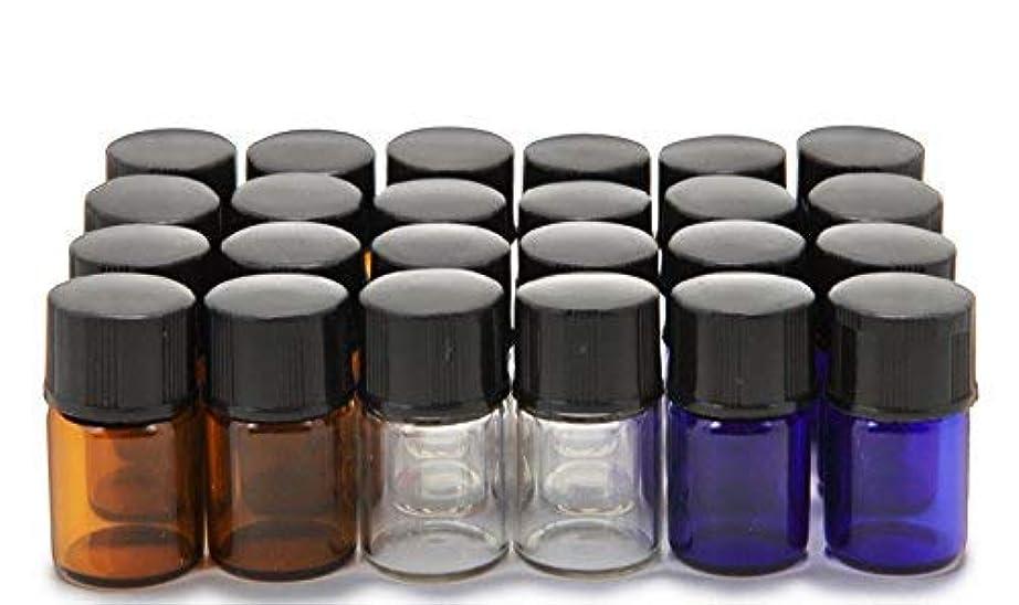 鮮やかな本部適用するVivaplex, 24, Assorted Colors, 2 ml (5/8 Dram) Glass Bottles, with Orifice Reducers and Black Caps [並行輸入品]