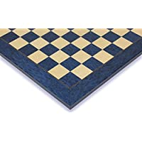 Blue Ash Burl & Erable High Gloss Deluxe Chess Board - 2.125