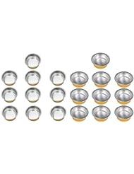 B Blesiya 溶融ワックスボウル アルミ箔ボウル ミニボウル ラウンド 家庭用 美容室 約20個入