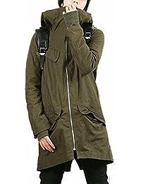 KMAZN メンズ ファッションコート ミリタリー モッズコート ロングコート 無地 大きいサイズ冬物