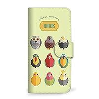 mitas LG style L-03K ケース 手帳型 バード 鳥 小鳥 とり D (396) SC-0194-D/L-03K