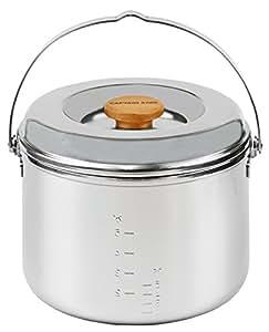 キャプテンスタッグ キャンプ バーベキュー用 炊飯器 3層鋼ごはん炊きクッカー5合 M-8610M-8610