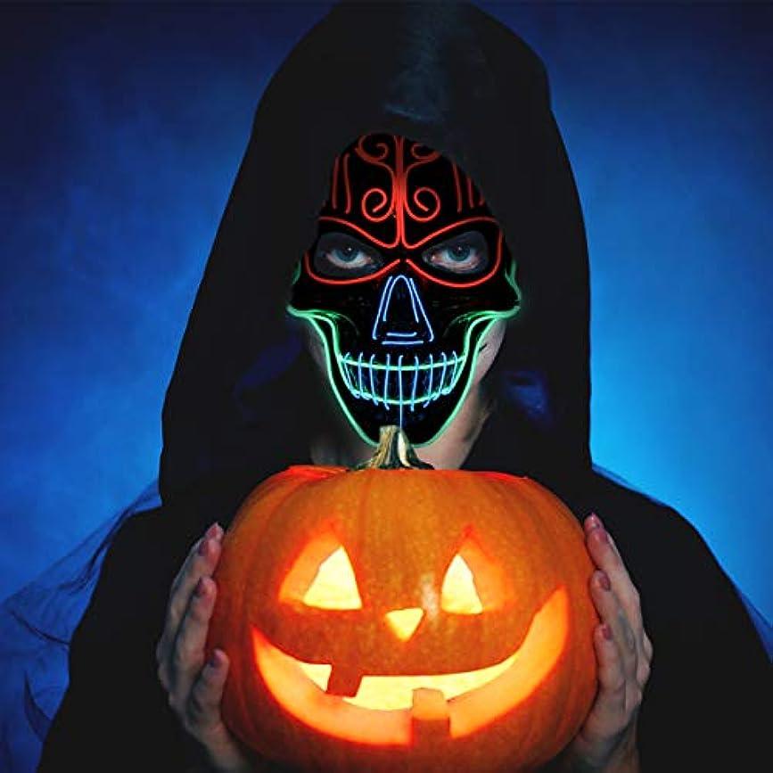 マスク ハロウィン LED 発光 光る 怖い 髑髏 ハロウィンマスク ハロウィン 仮装