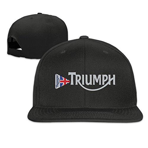 ZMONO メンズ ベースボールキャップ トライアンフ モーターサイクル 英字 ロゴ 個性的な 無地 オールシーズン対応 釣り ヒップホップ ハット Black