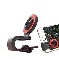 MAHORA フォートナイト 対応 ケース ホールドリング付 スマートフォン 用 クリップ型 ジョイスティック ゲームパッド コントローラ BY038 (レッド)