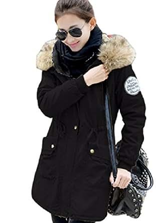 ナナコレクション Nana_Collection 冬 あったか 防寒 裏起毛 シャギー フェイクファー ボア フード ウェスト ドローコード カジュアル ...