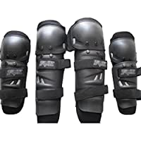 ハートのスピーカー4pcs /セット肘膝プロテクターガードパッドオートバイバイクRacingサイクリング