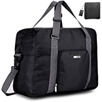 Duffle Bag Travel Bag - Black Lightweight Foldable Large Capacity Canvas Storage Luggage Duffel Tote Bag Sport Gym Portable Duffel Bag