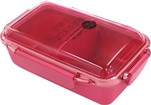 オーエスケー DISH UP LUNCH 4点ロック式 お弁当箱(仕切付) ホットピンク PCD-500