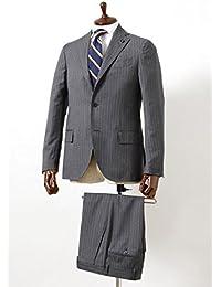 LARDINI(ラルディーニ) [春夏] 3B トロピカル ピンストライプ ウールスーツ ミディアムグレー size46