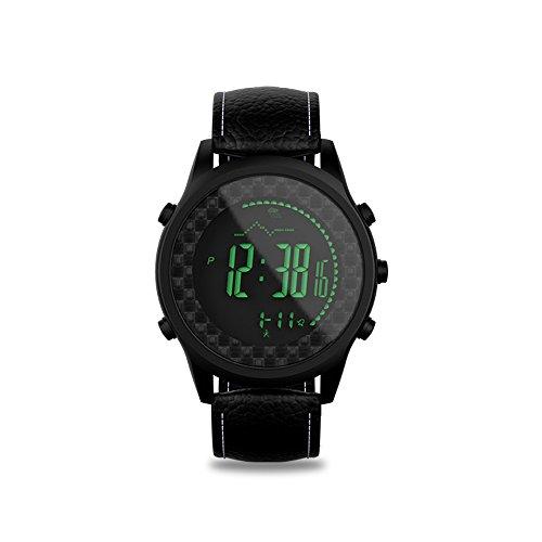 [해외]SPOVAN 스포츠 평면 50M 방수 가죽 밴드 하이킹 등산 스마트 워치 3D 보수계 2 시간 표시 나침반 시계 다기능 여성 남성 겸용 스포츠/SPOVAN Sports watch thin 50M waterproof genuine leather band hiking mountaineering smart watch 3D pedomete...