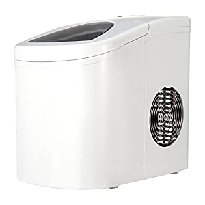 Shop405 製氷機 家庭用 新型 高速 自動製氷機 【 氷 2サイズ 】 かき氷 レジャー アウトドア 簡単 大容量 [ 自動製氷機洗浄剤 氷キレイ付き ] ホワイト 405-imcn01