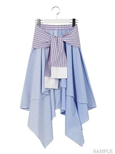 one spo (ワンスポ) ストライプシャツスカート