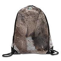 ベアユニセックス屋外リュックショルダーバッグ旅行巾着バックパックバッグ
