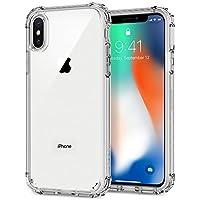 【Spigen】 スマホケース iPhone X ケース 全面クリア 米軍MIL規格取得 耐衝撃 クリスタル・シェル 057CS22141 (クリスタル・クリア)