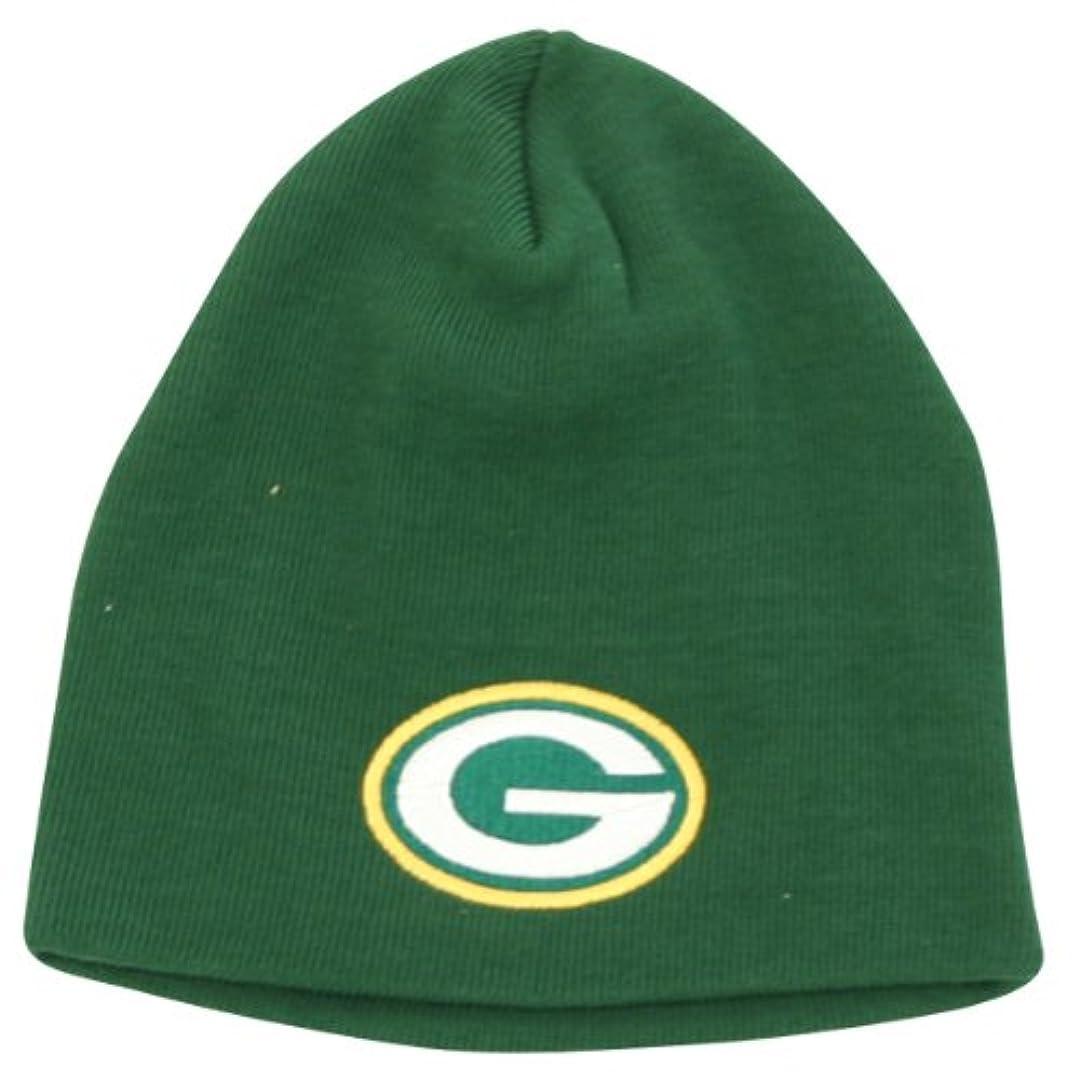 製油所ベルトなのでグリーンベイパッカーズBigロゴクラシック冬ニットビーニー帽子 – グリーン