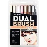 Tombow Dual Brush Pen Art Markers, Portrait, 10-Pack, 56170