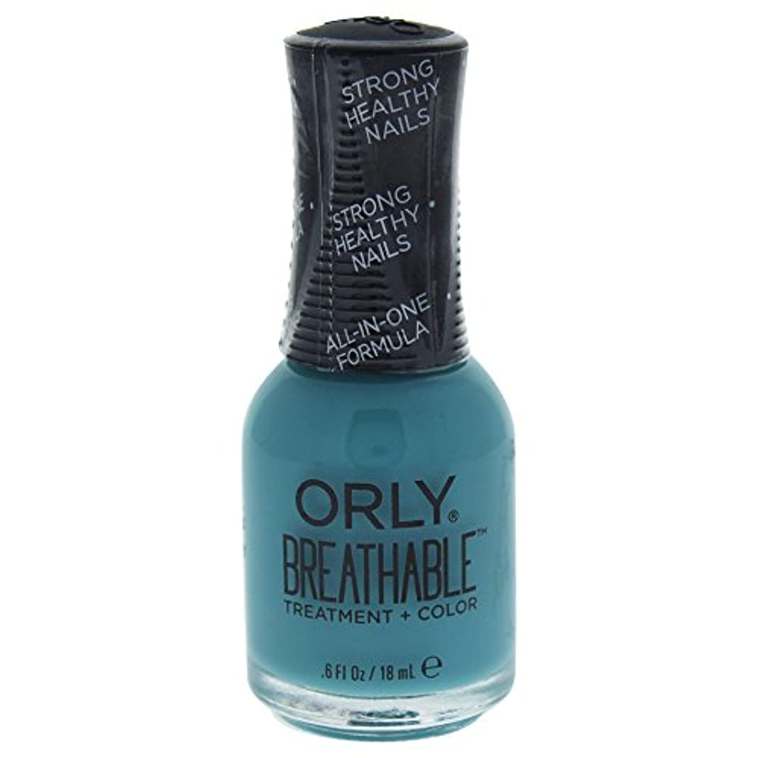 促す再集計帽子Orly Breathable Treatment + Color Nail Lacquer - Morning Mantra - 0.6oz / 18ml