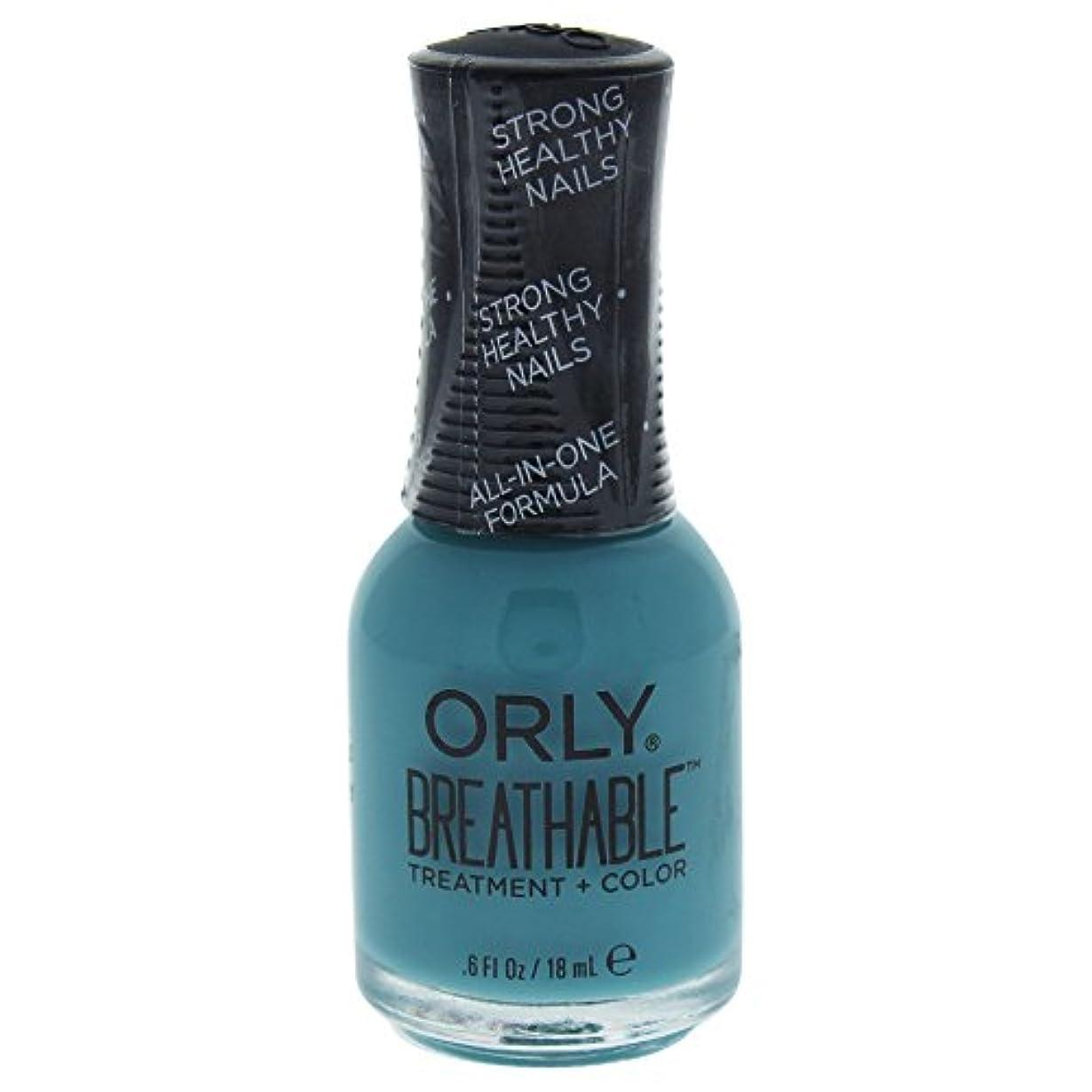 マントル仕事に行くボトルOrly Breathable Treatment + Color Nail Lacquer - Morning Mantra - 0.6oz / 18ml