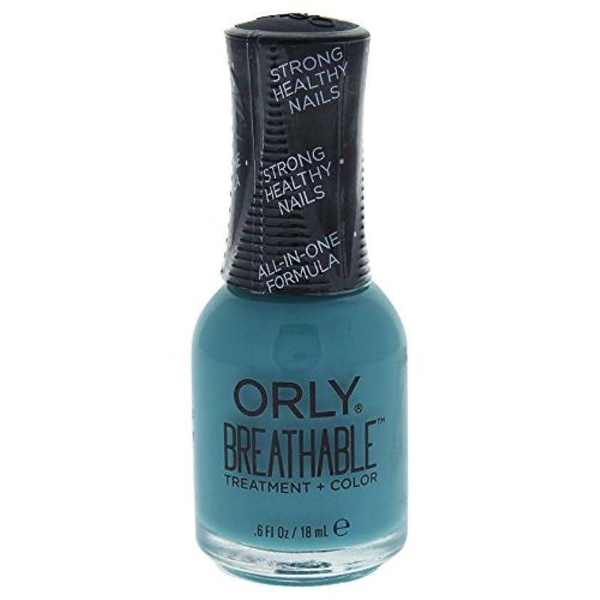 恐れる最少外部Orly Breathable Treatment + Color Nail Lacquer - Morning Mantra - 0.6oz / 18ml