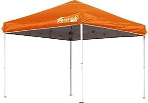 FIELDOOR 組立て簡単!! 2.5x2.5m ワンタッチタープテント オレンジ G03 【別売りオプションパーツが豊富】 (高耐水加工&シルバーコーティング/UVカットコーティング)