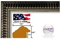 """装飾ゴールド、ブラウン、シルバー& Burgundyブラック画像フォトポスターフレーム7/ 8"""" and 1.25""""ポリスチレンMoulding 11x17 ブラック 7/8OrntPSlvr-11x17"""