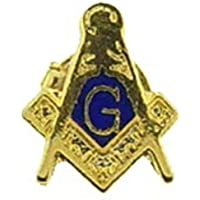 謎多い フリーメイソン 秘密結社 ピンバッジ アクセサリー 極小 Free Mason 金 コンパス 定規 G シンボルマーク