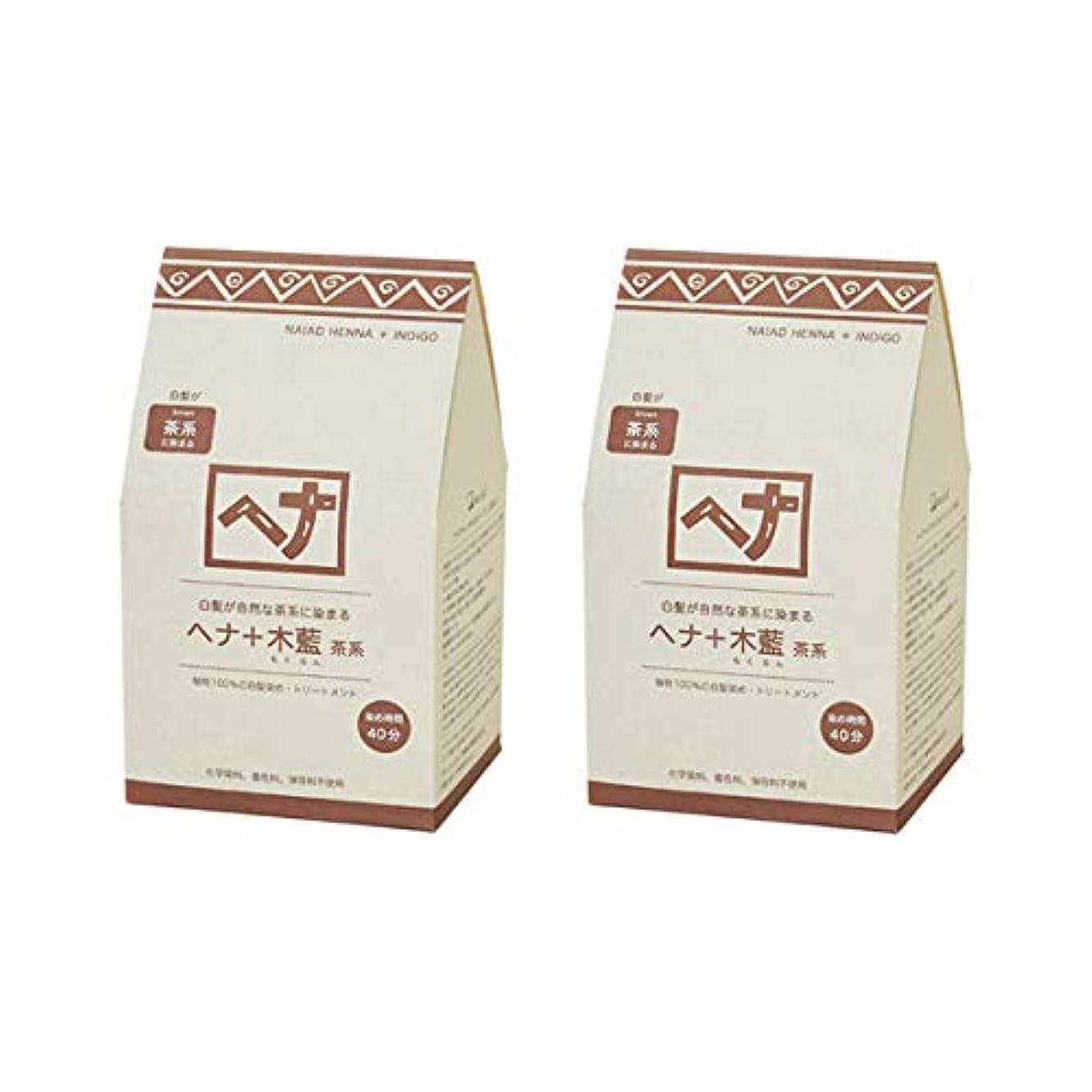 講師七時半小道具ナイアード ヘナ+木藍(茶系)400g(100g×4袋)×2個セット+アレッポの石鹸1個プレゼント