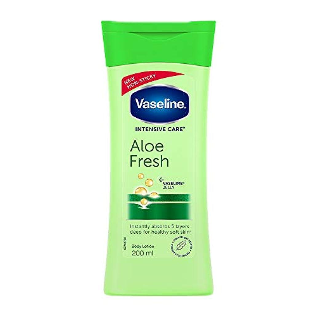 たくさんイタリアの剪断Vaseline Intensive Care Aloe Fresh Body Lotion, 200 ml