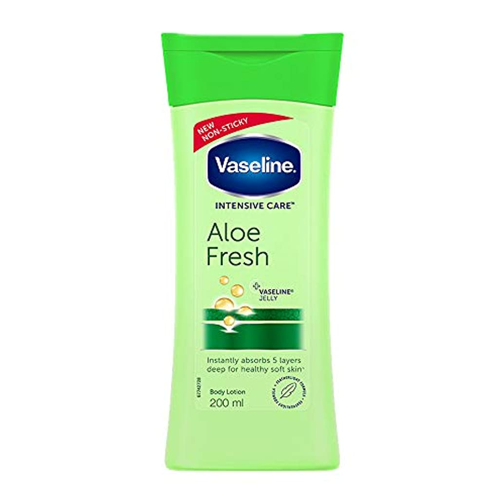 快いリスク体系的にVaseline Intensive Care Aloe Fresh Body Lotion, 200 ml