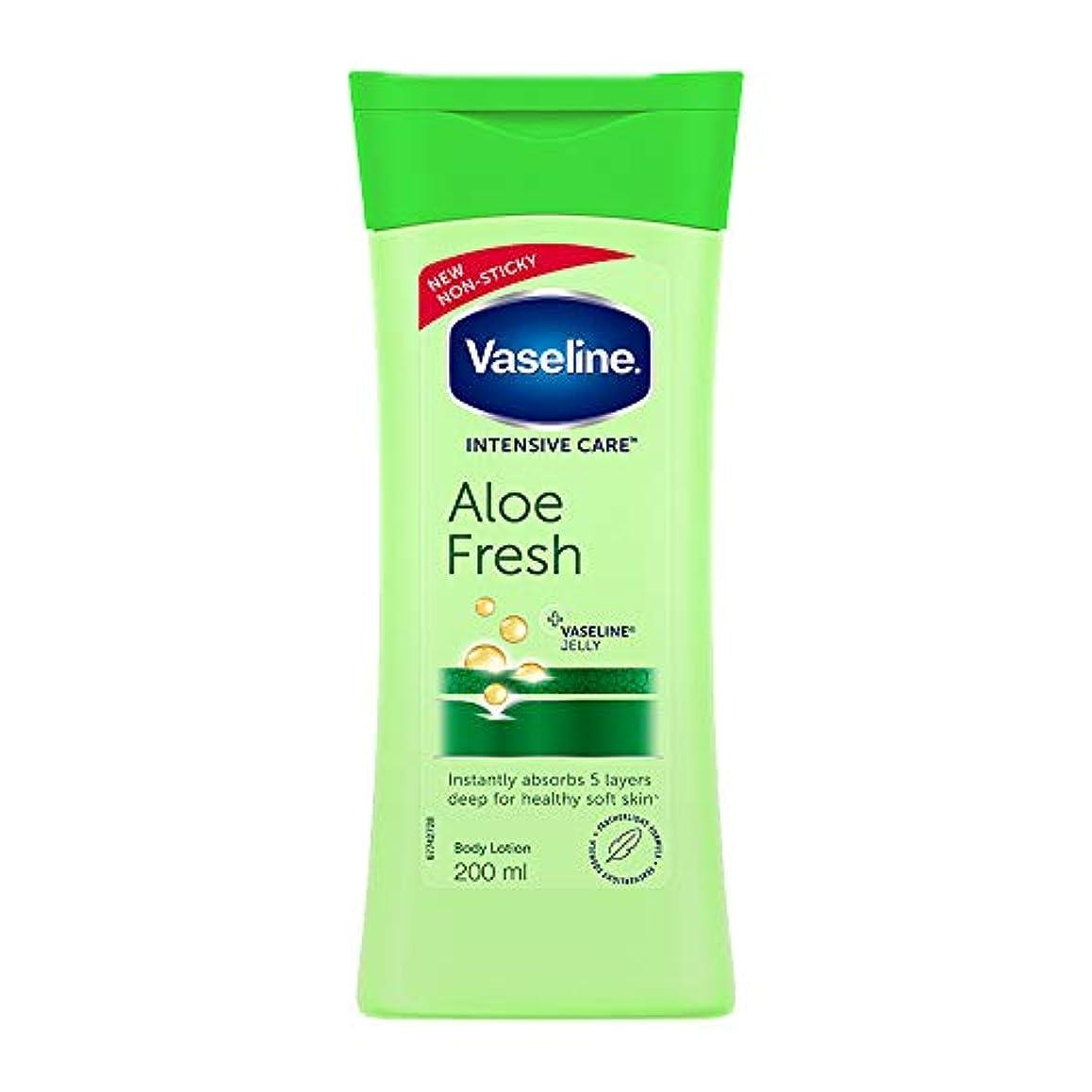 落胆させるたらい特性Vaseline Intensive Care Aloe Fresh Body Lotion, 200 ml